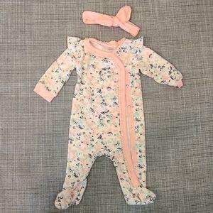 Baby girl floral onesie